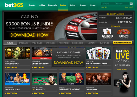 bet365 casino offers