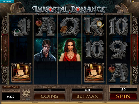 Immortal Romance 20 Free Spins