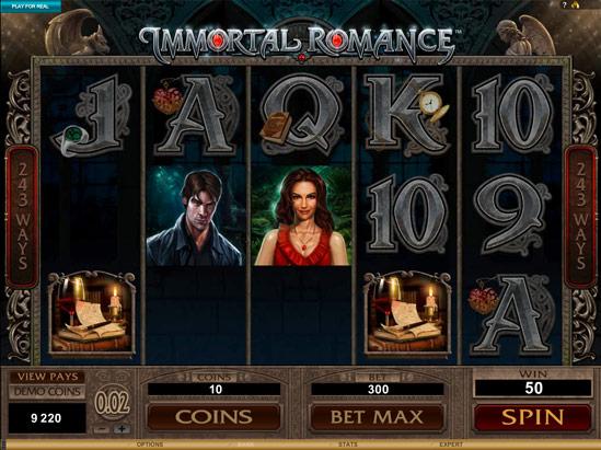 Immortal Romance 20 Free Spins